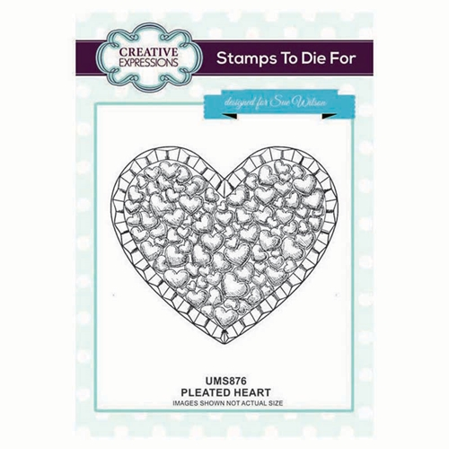 Creative Expressions PLEATED HEART Sue Wilson Cling Stamp ums876 Preview Image