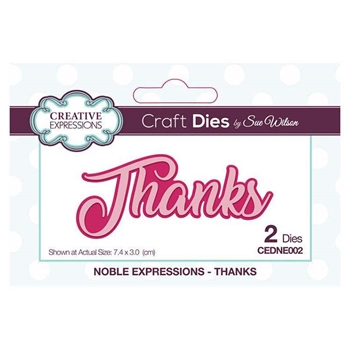 Creative Expressions THANKS Sue Wilson Noble Expressions Collection Dies cedne002