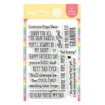 Waffle Flower BE HIM SENTIMENTS Clear Stamps 271259