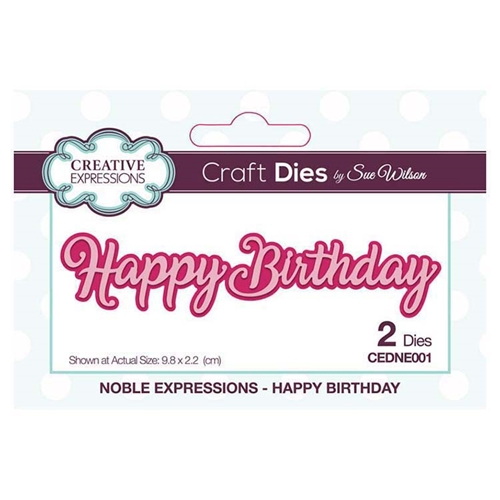 Creative Expressions HAPPY BIRTHDAY Sue Wilson Noble Expressions Collection Dies cedne001 Preview Image