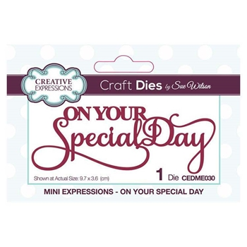 Creative Expressions ON YOUR SPECIAL DAY Sue Wilson Mini Expressions Die Set cedme030