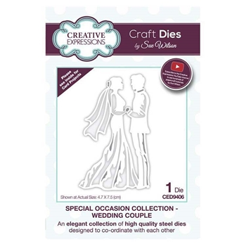 Creative Expressions WEDDING COUPLE Sue Wilson Special Occasion Collection Dies ced9406