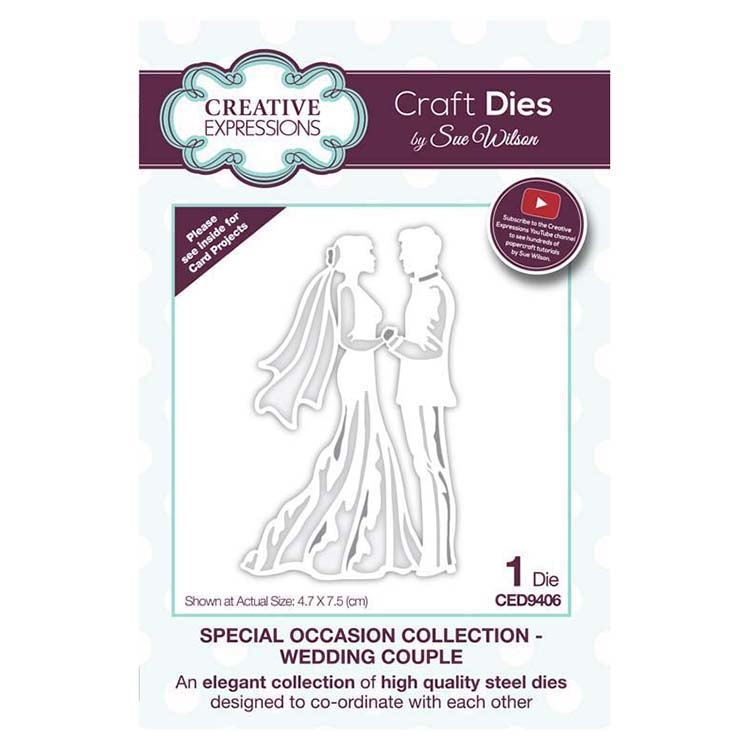 Creative Expressions WEDDING COUPLE Sue Wilson Special Occasion Collection Dies ced9406 zoom image