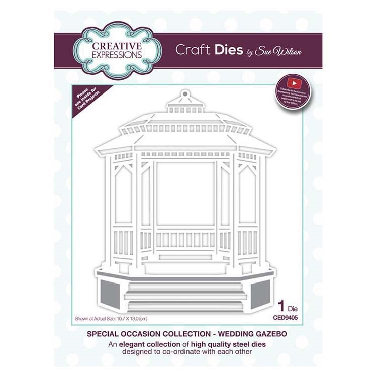 Creative Expressions WEDDING GAZEBO Sue Wilson Special Occasions Collection Dies ced9405 zoom image