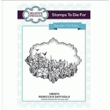Creative Expressions REBECCA'S DAFFODILS Sue Wilson Cling Stamp ums874