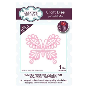 Creative Expressions BEAUTIFUL BUTTERFLY Sue Wilson Filigree Artistry Collection Dies ced2002