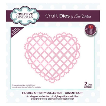 Creative Expressions WOVEN HEART Sue Wilson Filigree Artistry Collection Dies ced2001
