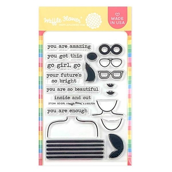 Waffle Flower GO GIRL Clear Stamps 271244