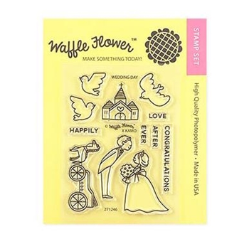 Waffle Flower WEDDING DAY Clear Stamps 271246