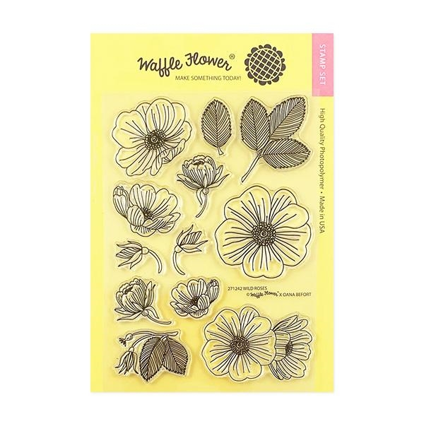 Waffle Flower WILD ROSES Clear Stamps 271242 zoom image