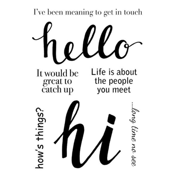 Woodware Craft Collection HELLO Clear Stamps jgs670