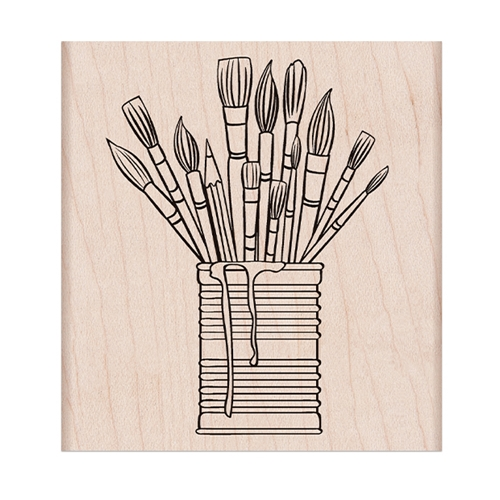 Hero Arts Rubber Stamp TIN OF BRUSHES K6357 Preview Image