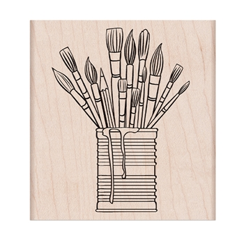 Hero Arts Rubber Stamp TIN OF BRUSHES K6357