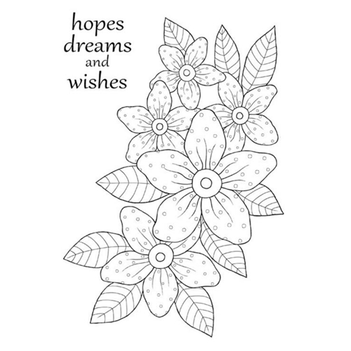 Woodware Craft Collection SUNNY DAISIES Clear Stamps jgs661 Preview Image