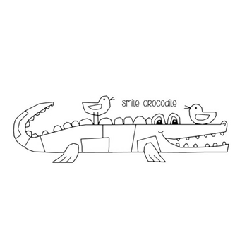 Woodware Craft Collection SMILE CROCODILE Clear Stamps frs386