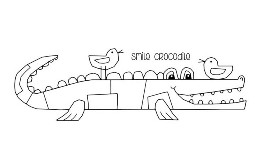 Woodware Craft Collection SMILE CROCODILE Clear Stamps frs386 zoom image