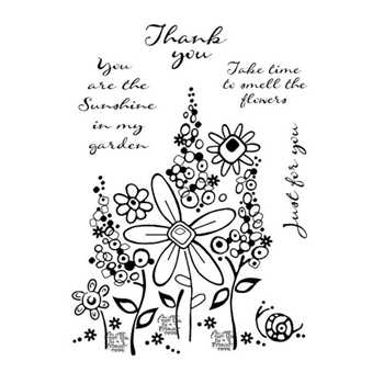 Woodware Craft Collection MILLEFIORI GARDEN Clear Stamps frs761