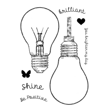 Woodware Craft Collection FILL ME LIGHTBULB Clear Stamps frs759