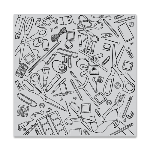 Hero Arts Cling Stamp CRAFTING TOOLS BOLD PRINTS CG777 Preview Image