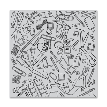 Hero Arts Cling Stamp CRAFTING TOOLS BOLD PRINTS CG777