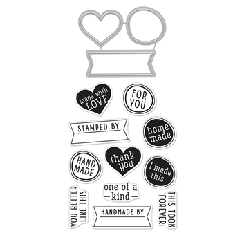 Hero Arts Stamp and Cuts ONE OF A KIND Coordinating Set DC264