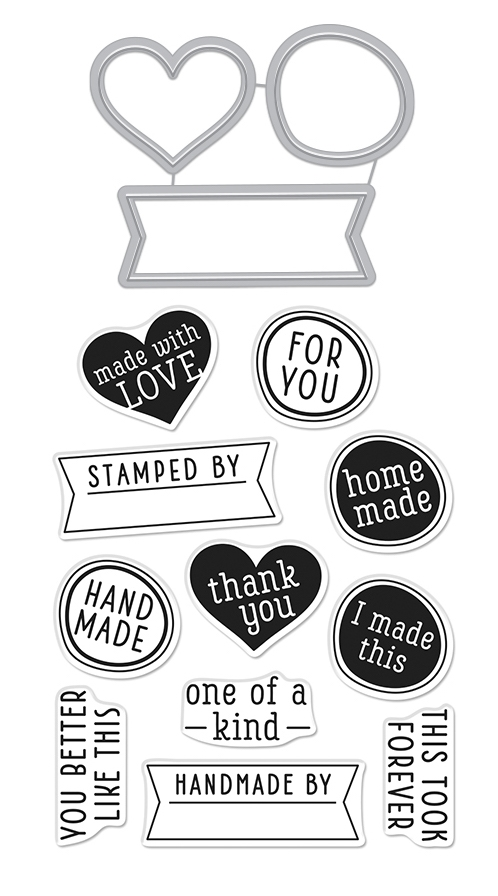 Hero Arts Stamp and Cuts ONE OF A KIND Coordinating Set DC264 zoom image