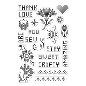 Hero Arts Clear Stamps CROSS STITCH PATTERNS CM363