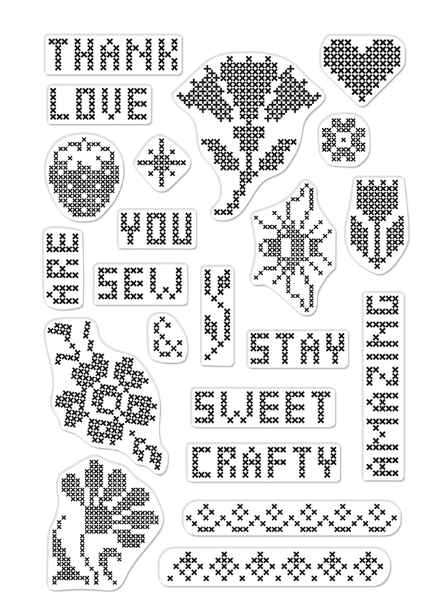 Hero Arts Clear Stamps CROSS STITCH PATTERNS CM363 zoom image