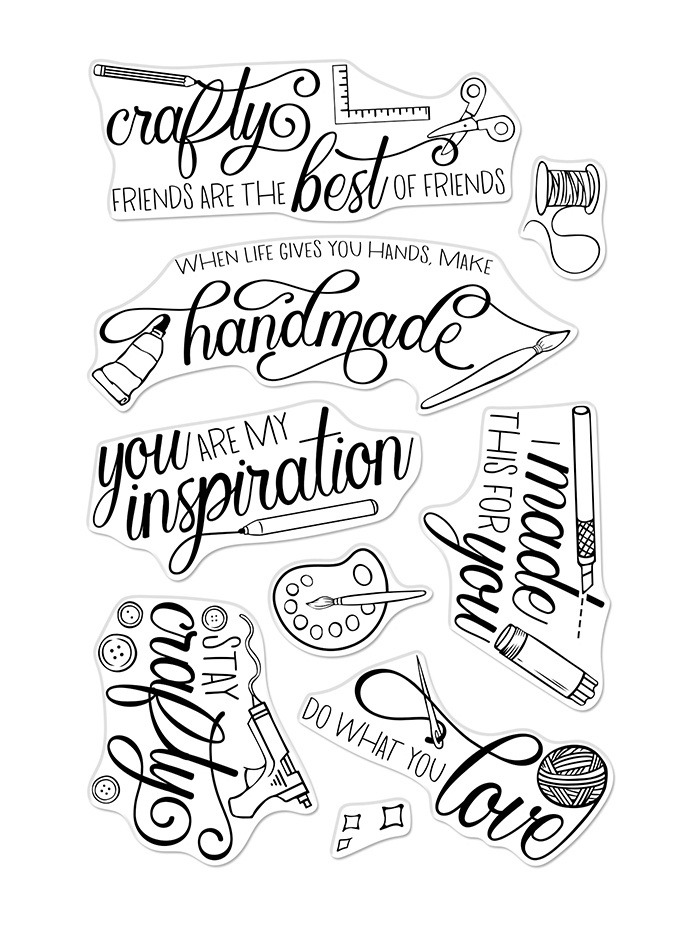 Hero Arts Clear Stamps CRAFTY MESSAGES CM362 zoom image