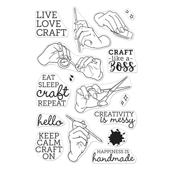 Hero Arts Clear Stamps HANDMADE HAPPINESS CM366