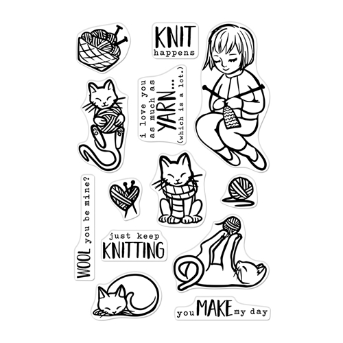 Hero Arts Clear Stamps KNITTING CM364 Preview Image