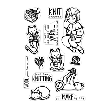 Hero Arts Clear Stamps KNITTING CM364