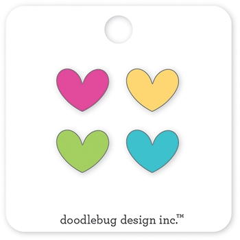 Doodlebug MINI HEARTS Collectible Enamel Pins 5535