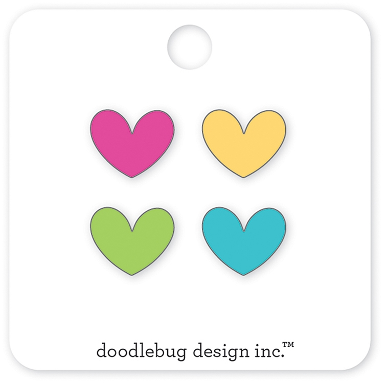 Doodlebug MINI HEARTS Collectible Enamel Pins 5535 zoom image