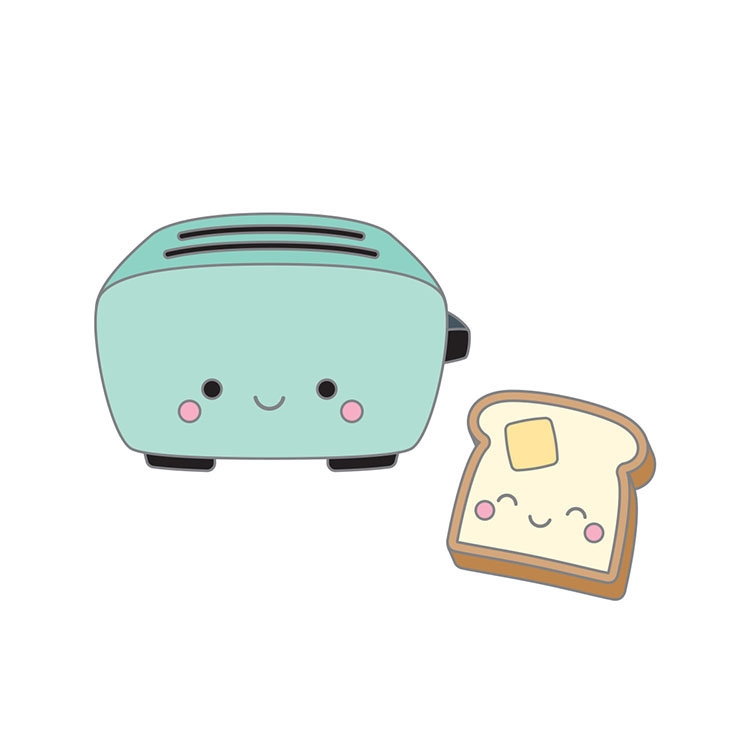 Doodlebug TOASTER TIME Collectible Enamel Pins 5919 zoom image