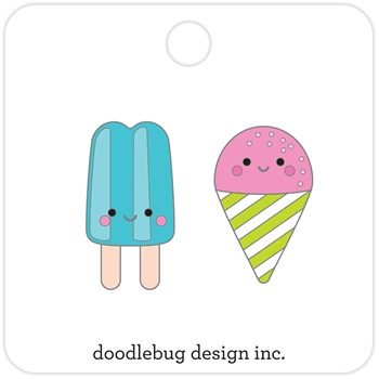 Doodlebug SUMMER TREATS Collectible Enamel Pins 5847