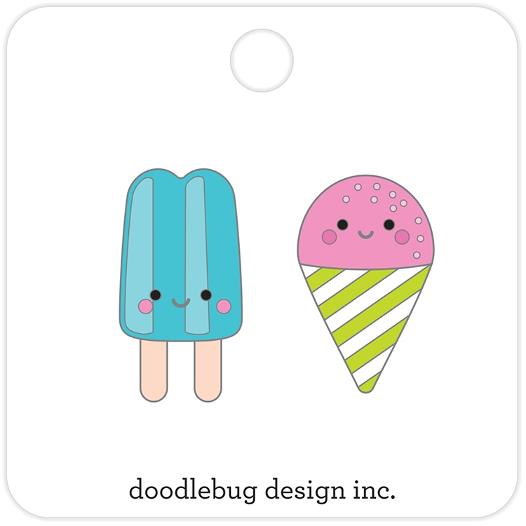Doodlebug SUMMER TREATS Collectible Enamel Pins 5847 zoom image