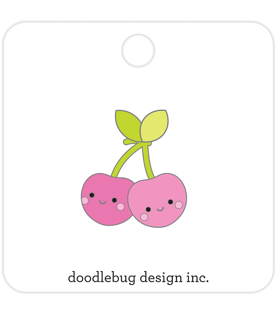 Doodlebug CHEERY CHERRIES Collectible Enamel Pin 5846 zoom image