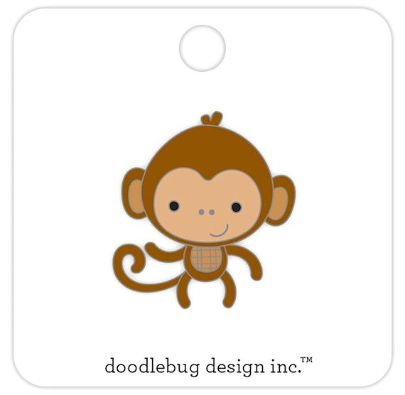 Doodlebug MONKEY Collectible Enamel Pin 5700 zoom image