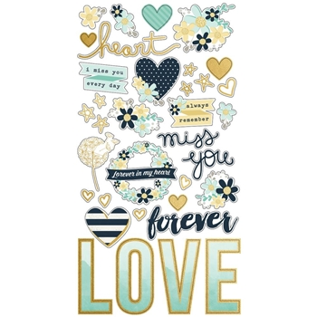 Simple Stories HEART 6 x 12 Chipboard Stickers 10512
