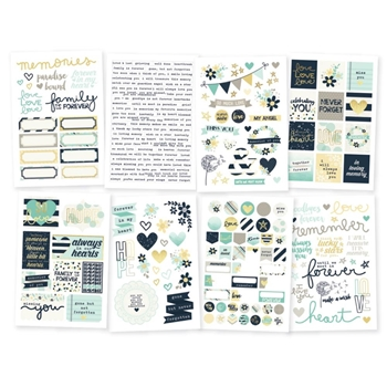 Simple Stories HEART 4 x 6 Stickers 10514