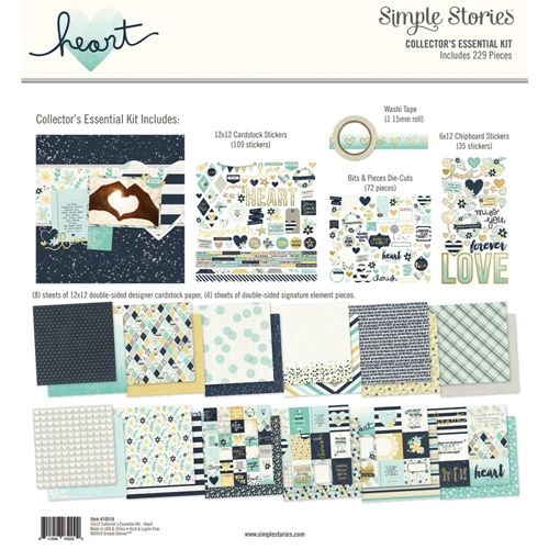 Simple Stories HEART 12 x 12 Collector's Essential Kit 10516 Preview Image