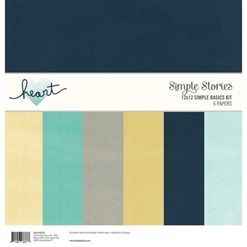 Simple Stories HEART 12 x 12 Basics Kit 10725