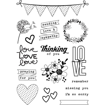 Simple Stories ALWAYS IN MY HEART Clear Stamp Set 10739