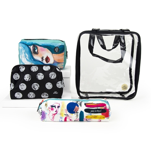 JDM-040 Spellbinders OPEN AND SHUT CASE STORAGE POUCHES from Making Faces by Jane Davenport Preview Image