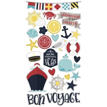 Simple Stories CRUISIN' 6 x 12 Chipboard Stickers 10650