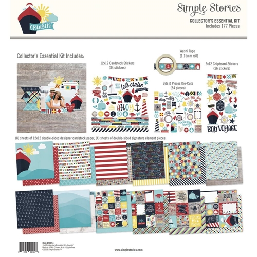 Simple Stories CRUISIN' 12 x 12 Collector's Essential Kit 10654 Preview Image