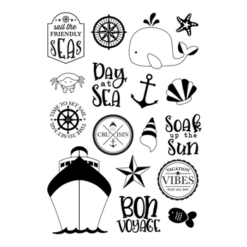 Simple Stories SET SAIL Cruisin' Clear Stamp Set 10748