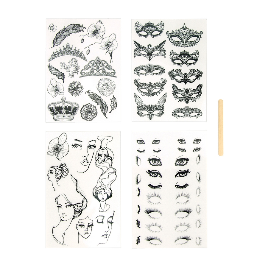JDM-002 Spellbinders MASQUERADE JOURNAL TATTOOS from Making Faces by Jane Davenport zoom image