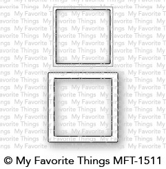 My Favorite Things MINI SQUARE SHAKER WINDOW AND FRAME Die-Namics MFT1511